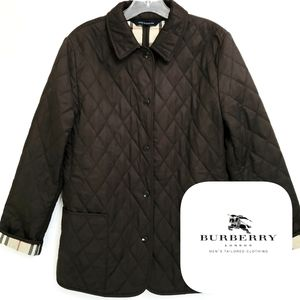 Burberry London Dark Brown Quilted Jacket